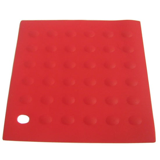 Red Silicone Collection Trivet