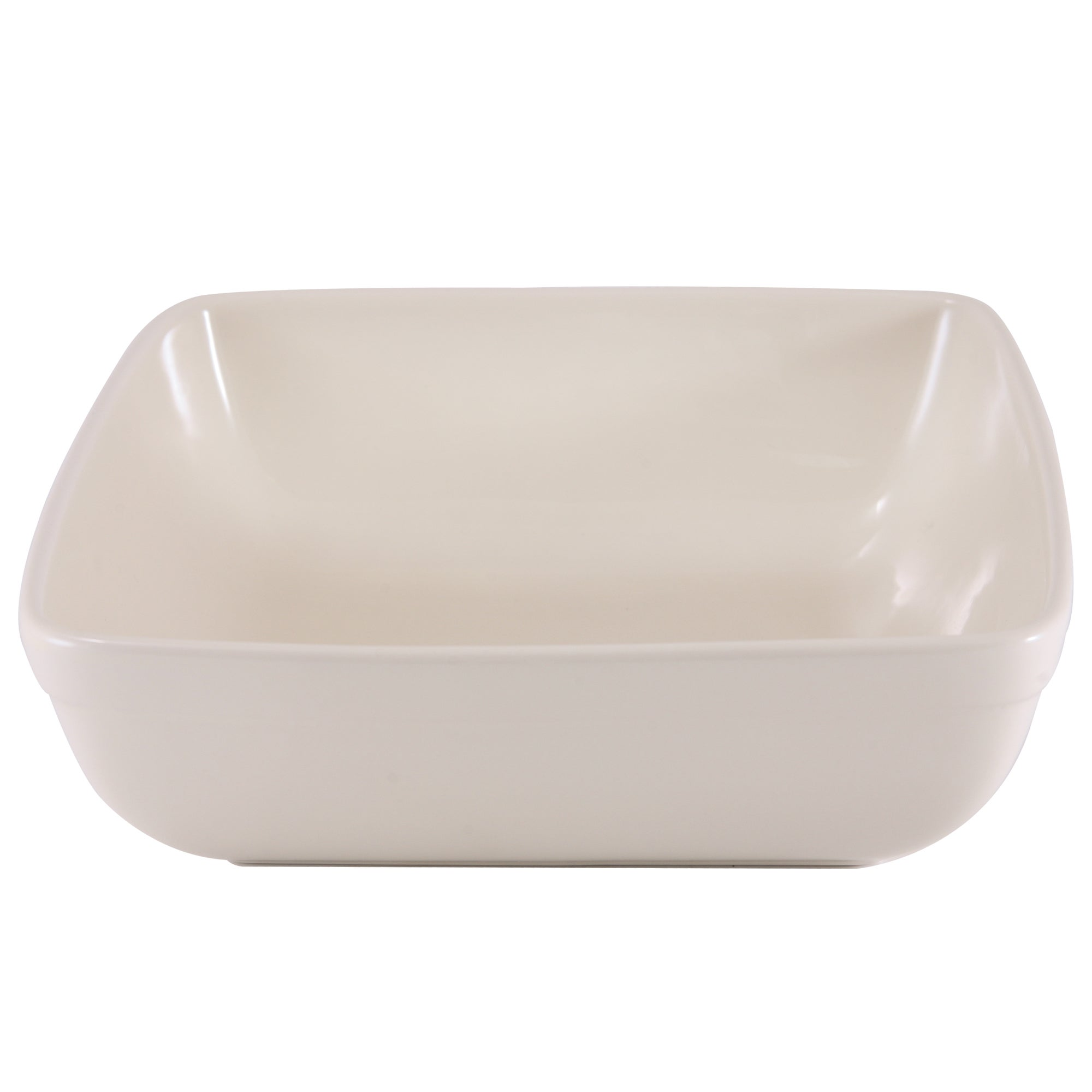 Cream Farmhouse Collection Square Dish