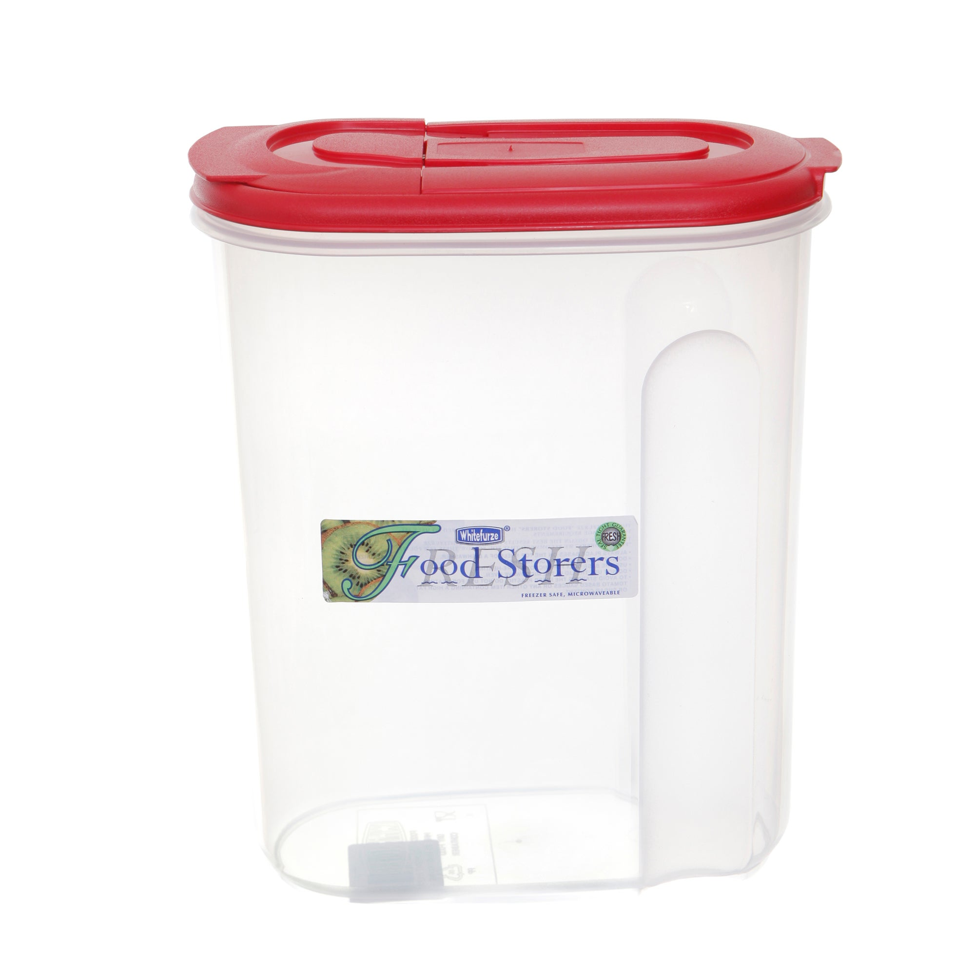Whitefurze 3 Litre Red Food Container