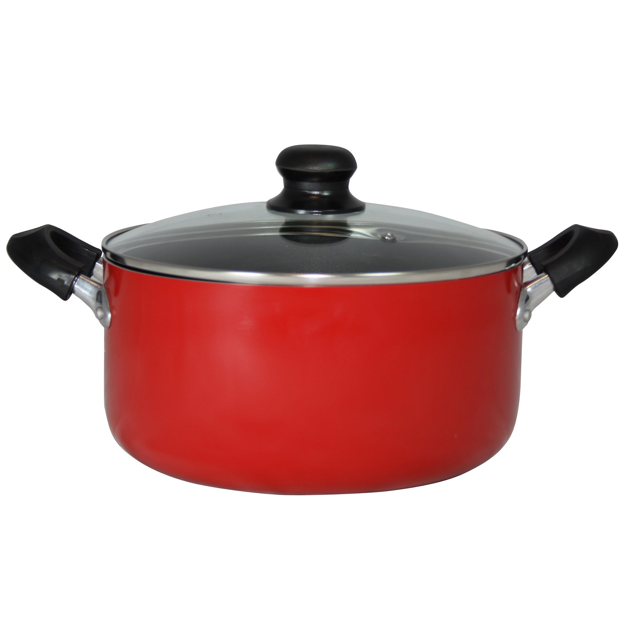 Red Spectrum Collection Aluminium Stock Pot
