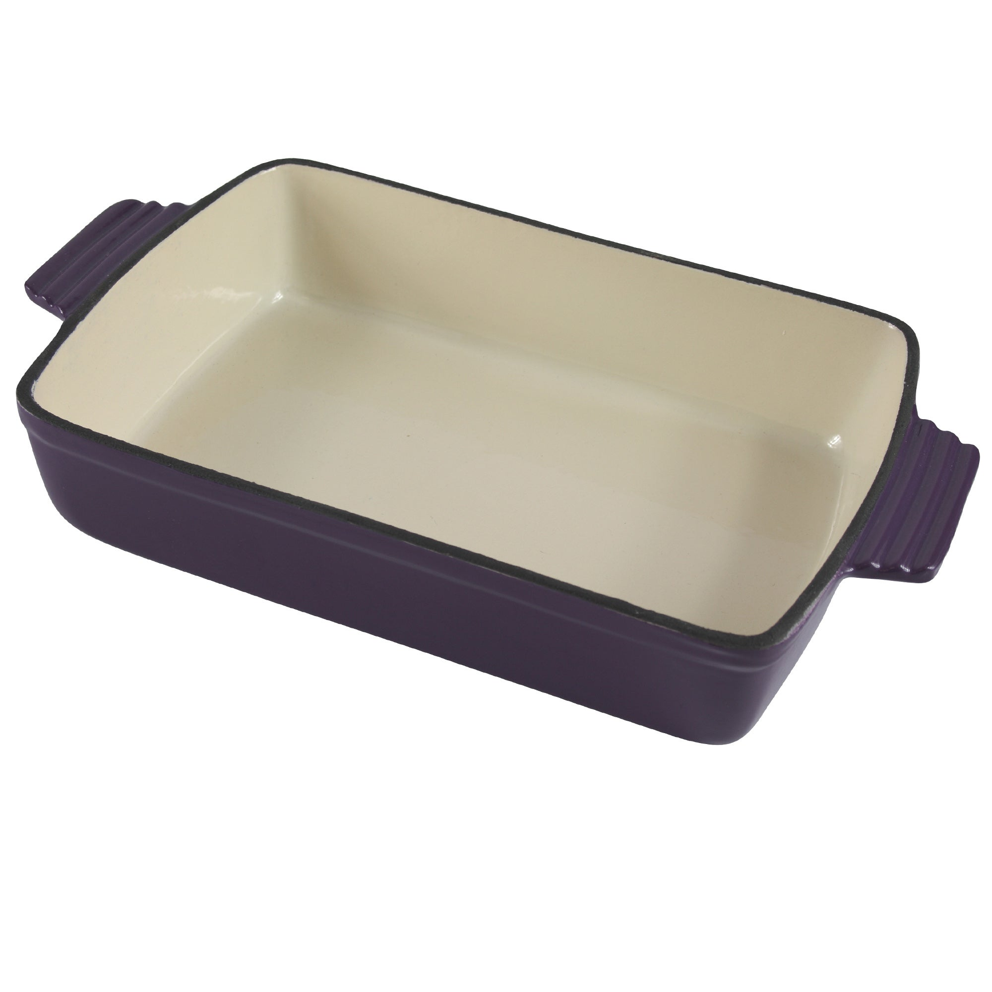 Plum Spectrum Collection Cast Iron Rectangular Roaster
