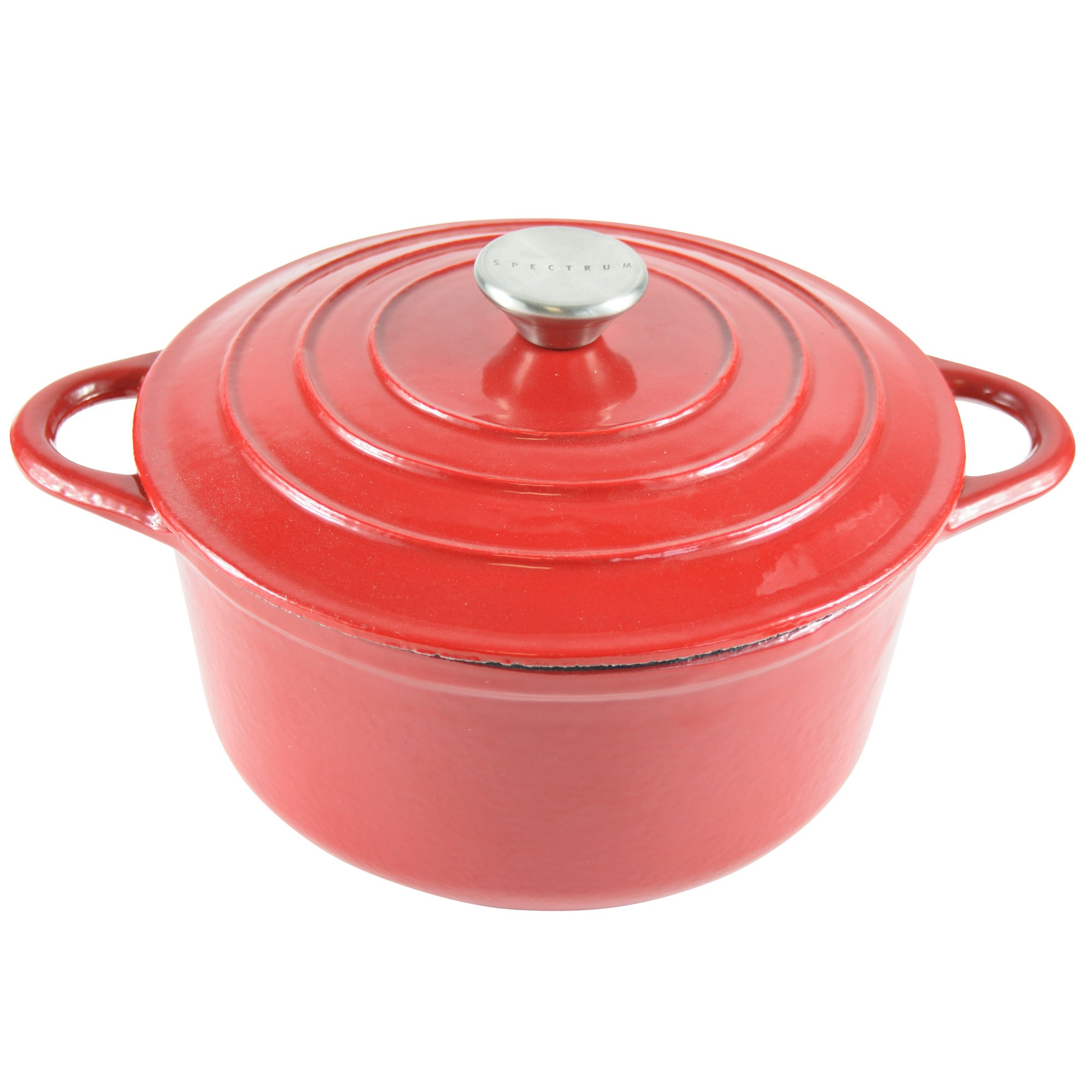 Red Spectrum Collection Cast Iron Casserole Dish