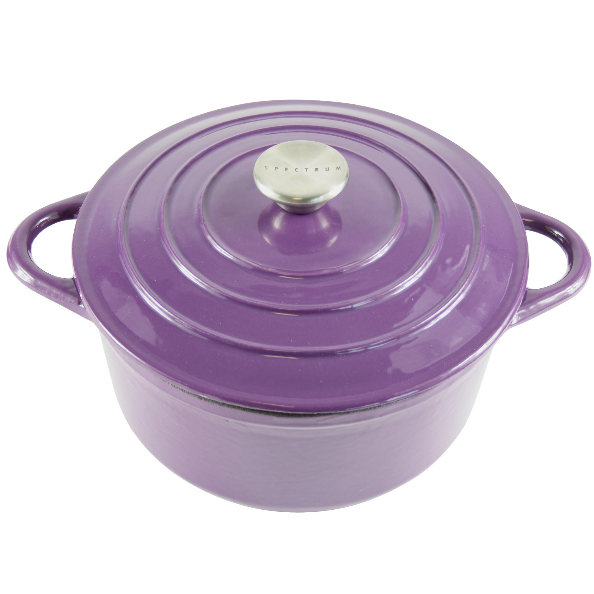 Plum Spectrum Collection Cast Iron Casserole Dish