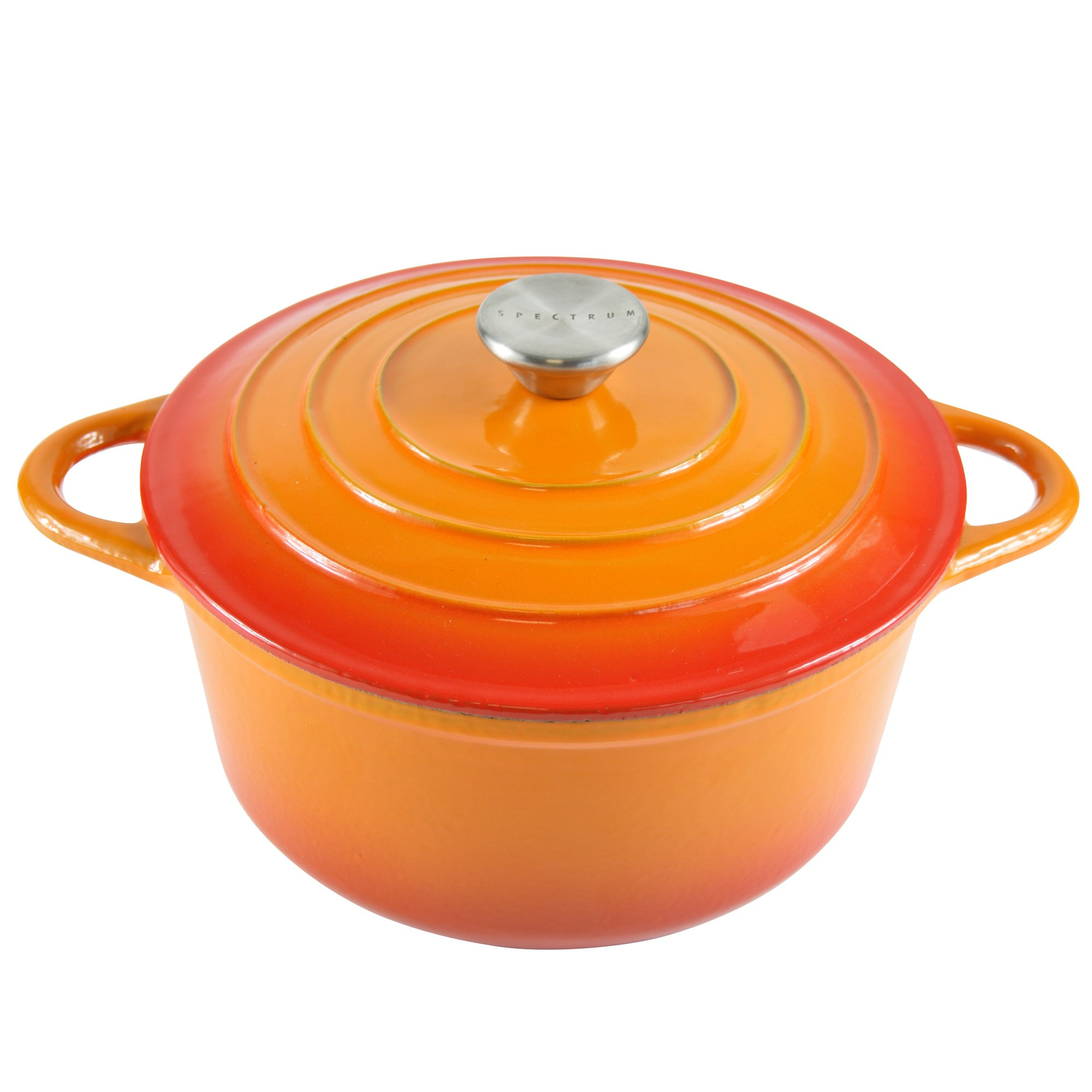 Orange Spectrum Collection Cast Iron Casserole Dish