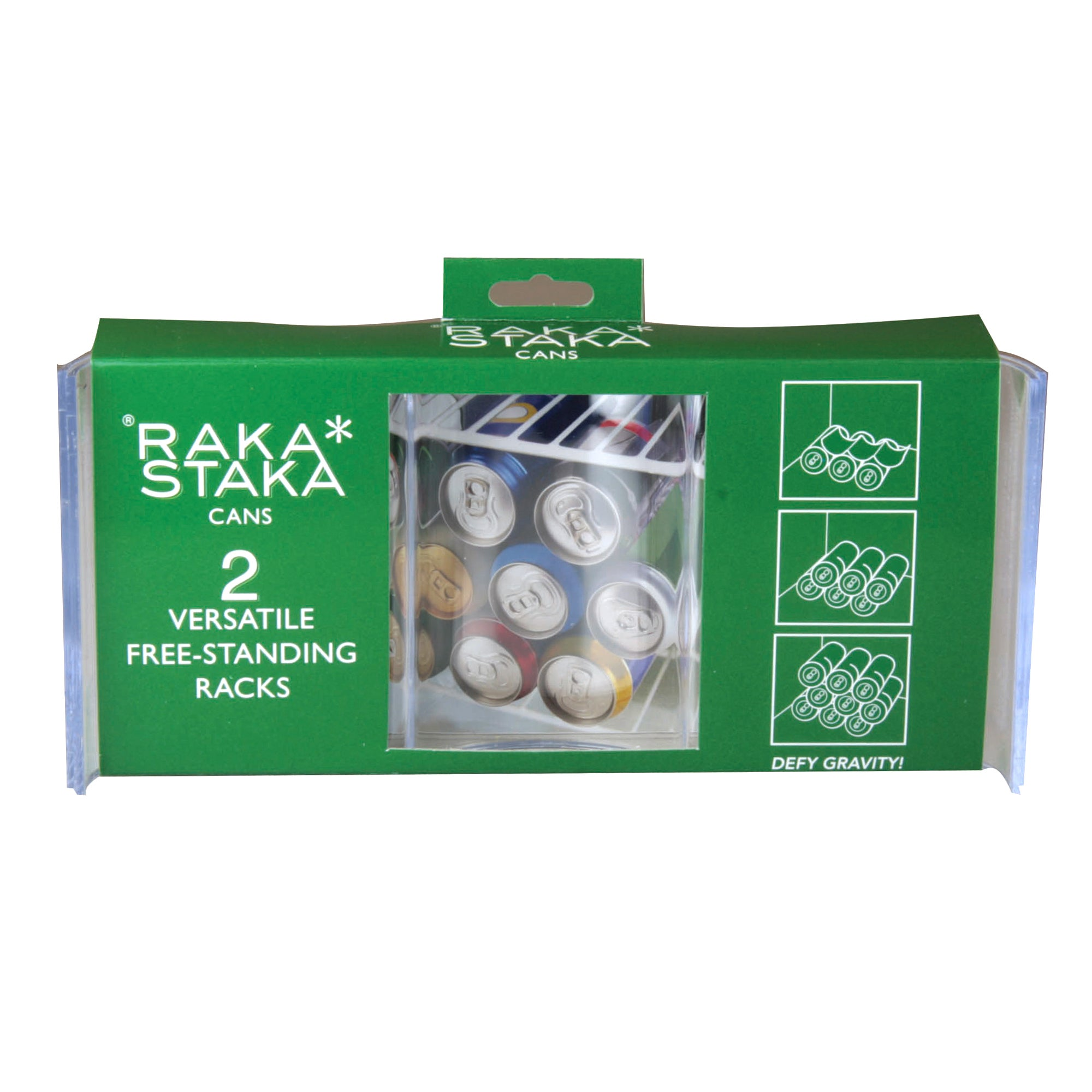 RakaStaka Pack of 2 Can Holders