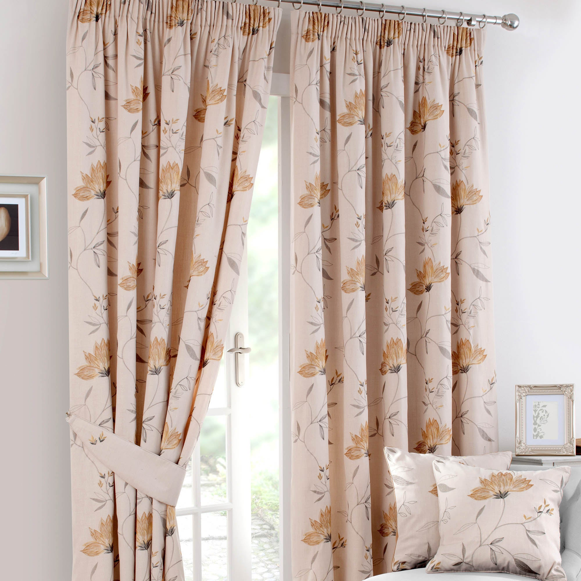 Ochre Amelia Curtain Collection