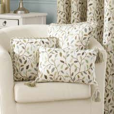 Heritage Teal Glava Collection Arabesque Cushion