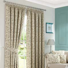 Heritage Teal Glava Lined Pencil Pleat Curtains