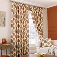 Terracotta Regan Lined Pencil Pleat Curtains
