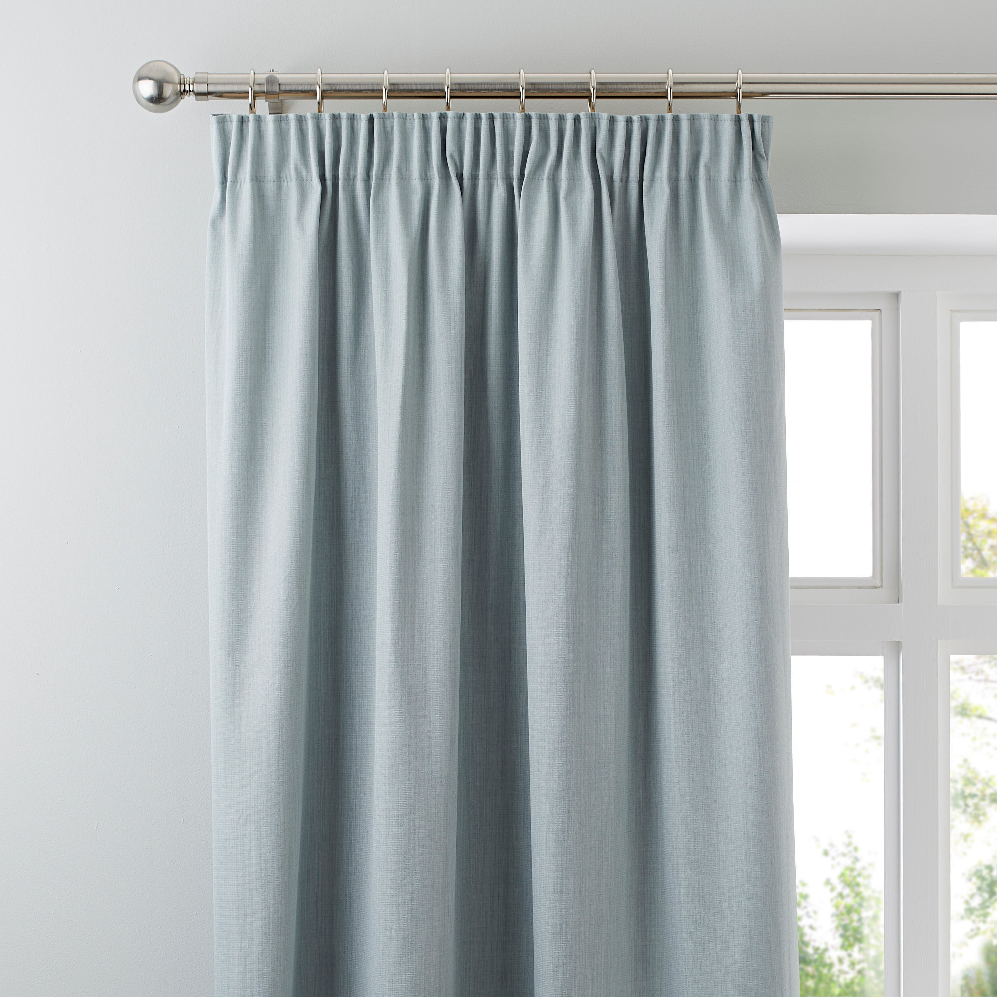 Waters and Noble Duck Egg Solar Blackout Pencil Pleat Curtains