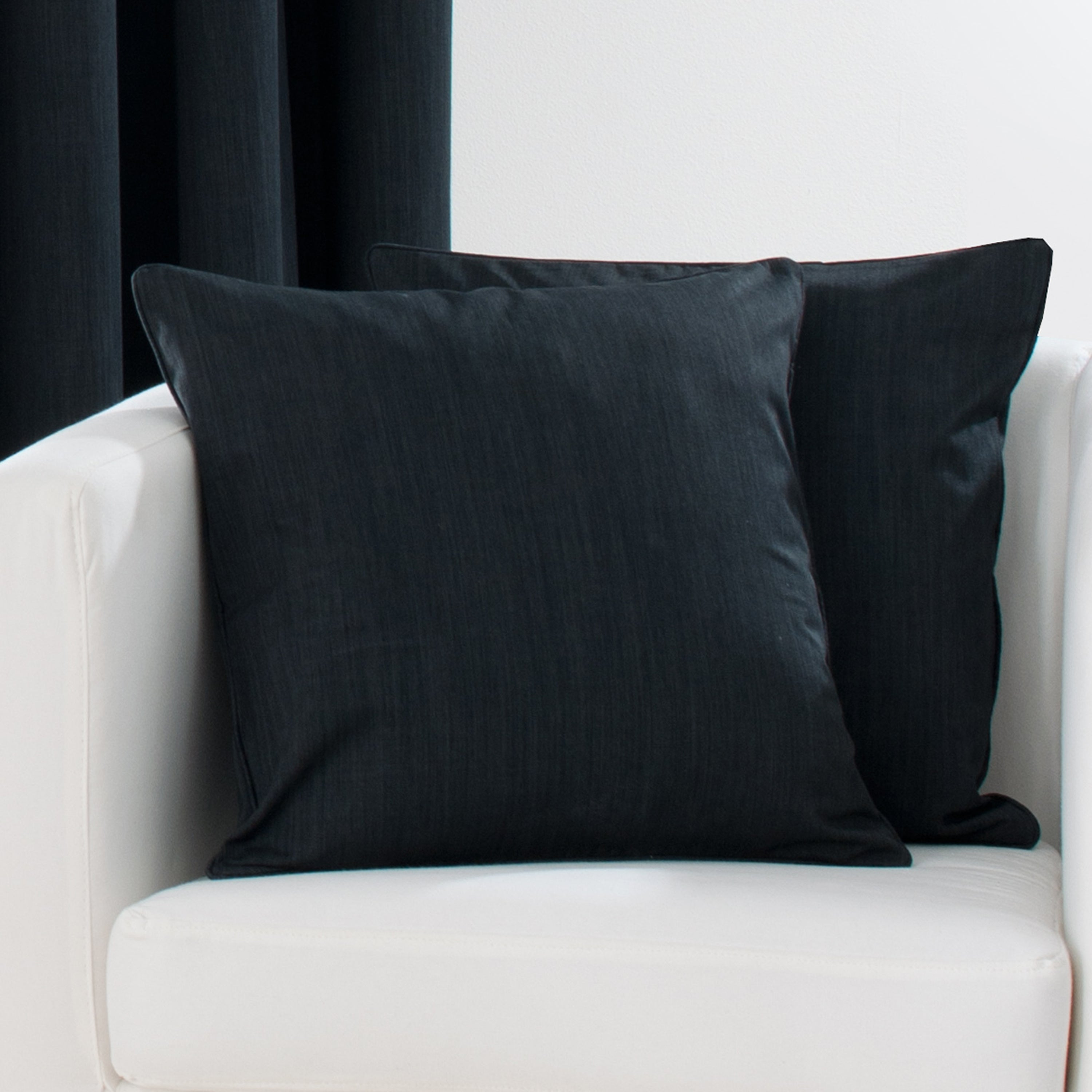 Waters and Noble Black Solar Blackout Collection Cushion