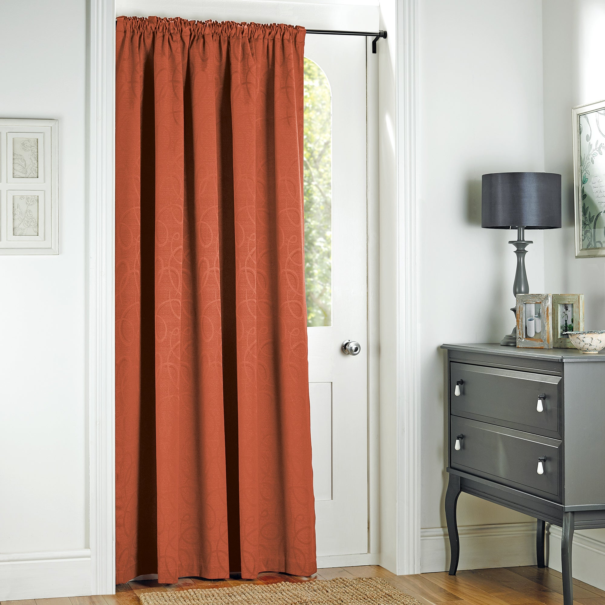Terracotta Toledo Collection Door Curtain