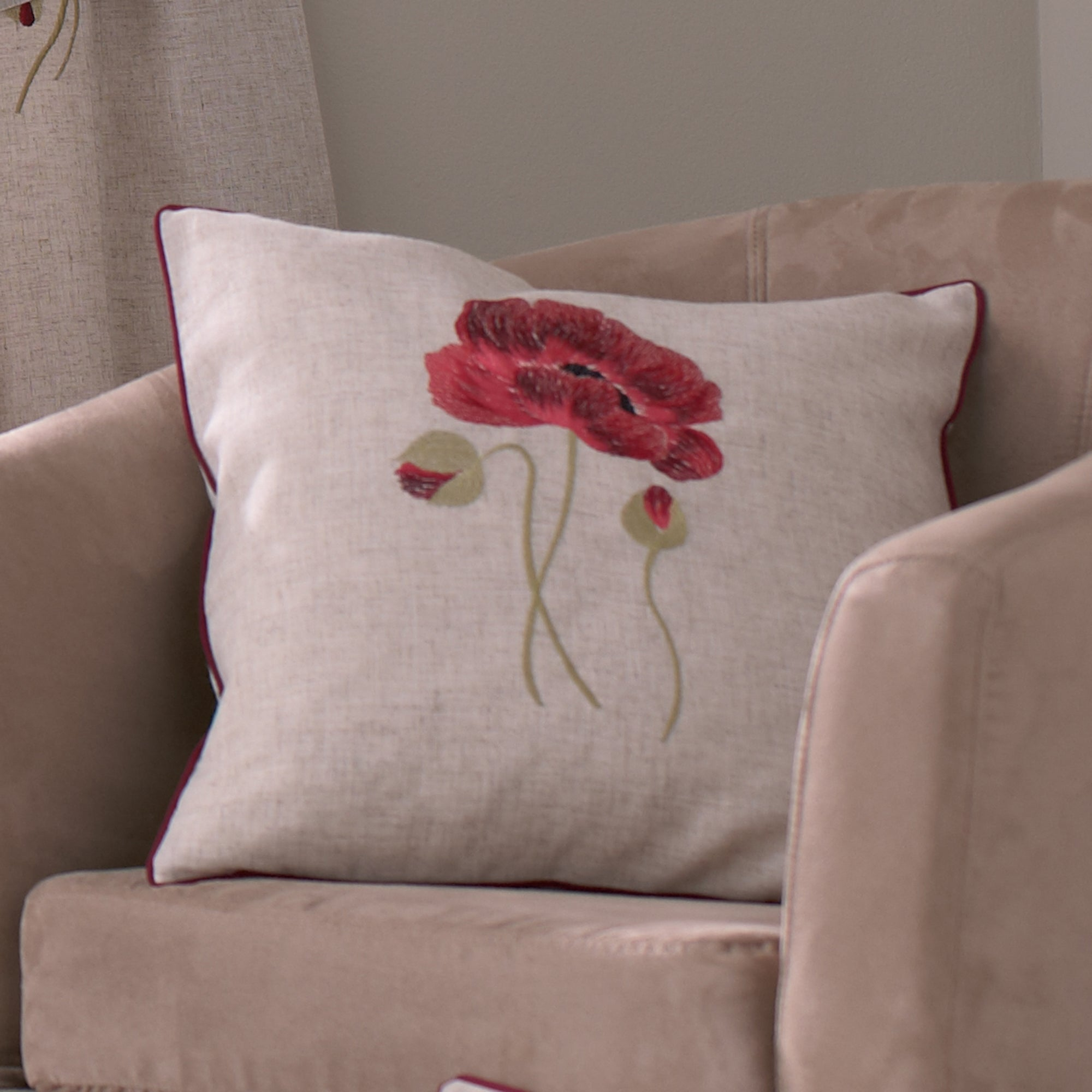 Vintage Poppy Collection Cushion