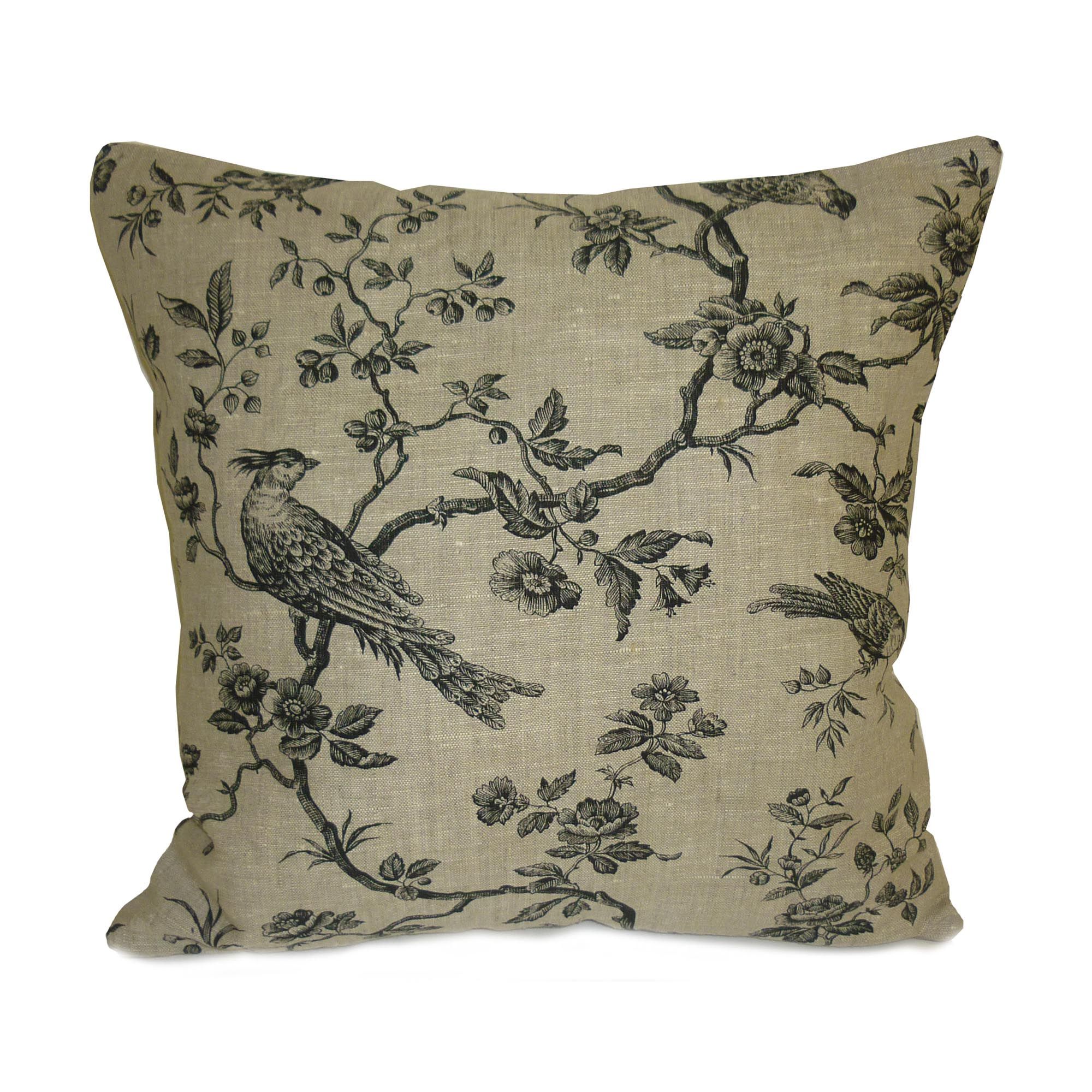 Black Eastern Birds Cushion