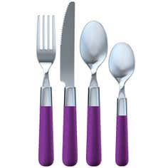 Purple Brit Pop Collection 16 Piece Cutlery Set