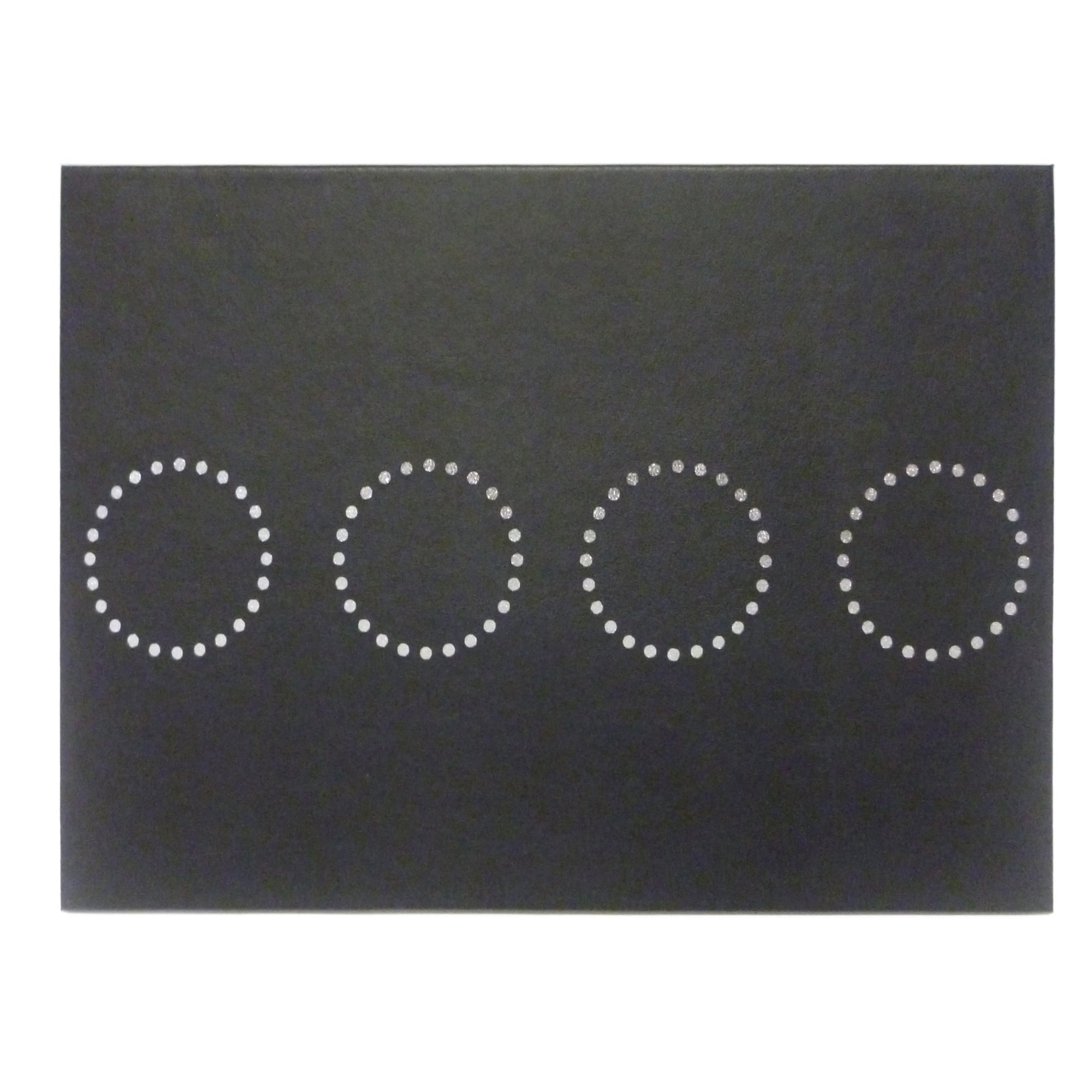 Black Circle Collection Set of Four Placemats
