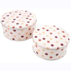 Red Country Spot Collection Set Of 2 Cake Tins