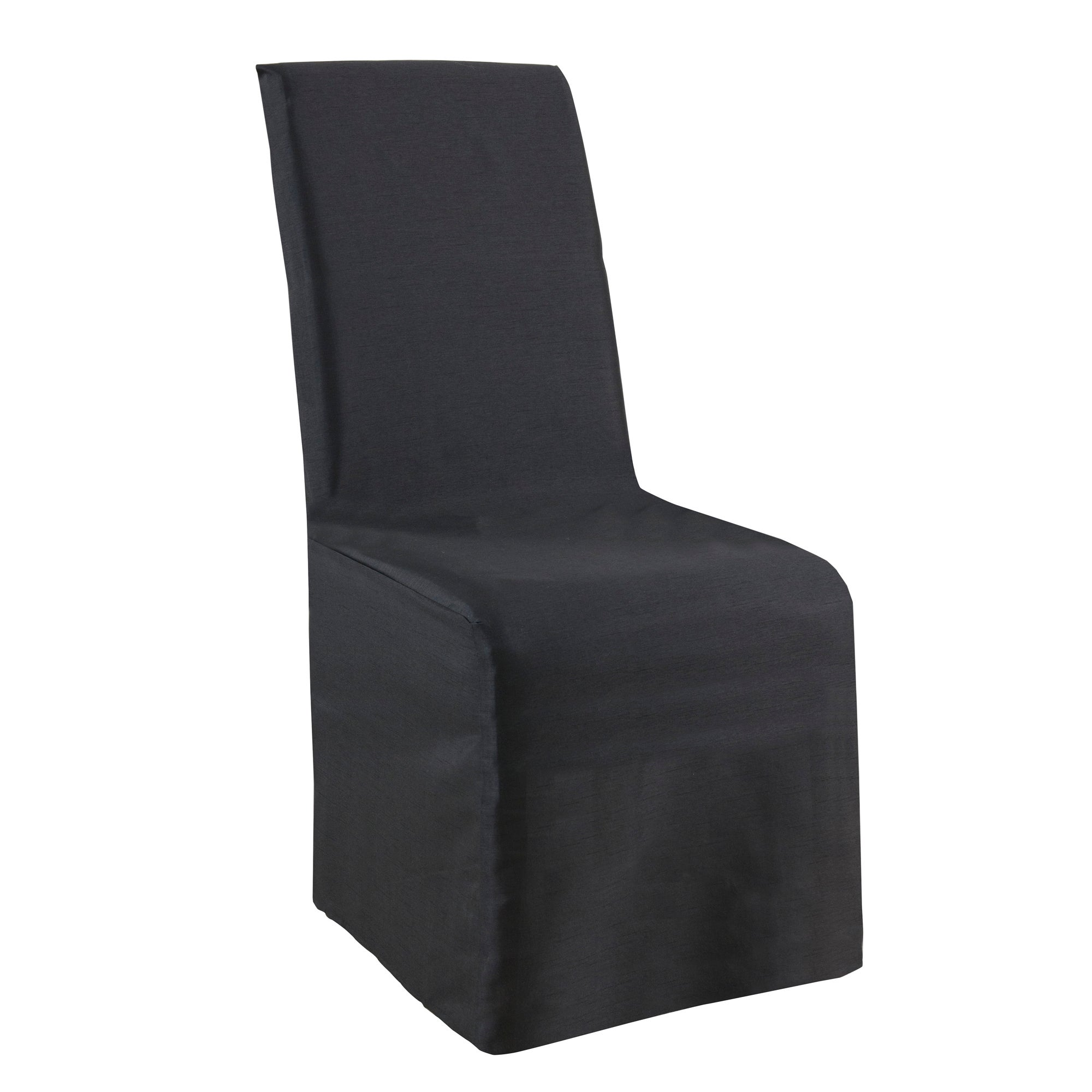 Pack of 2 Faux Silk Chair Covers