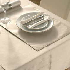Oyster Faux Silk Placemat