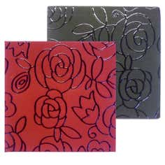 Floral Collection Set of Four Reversible Coasters