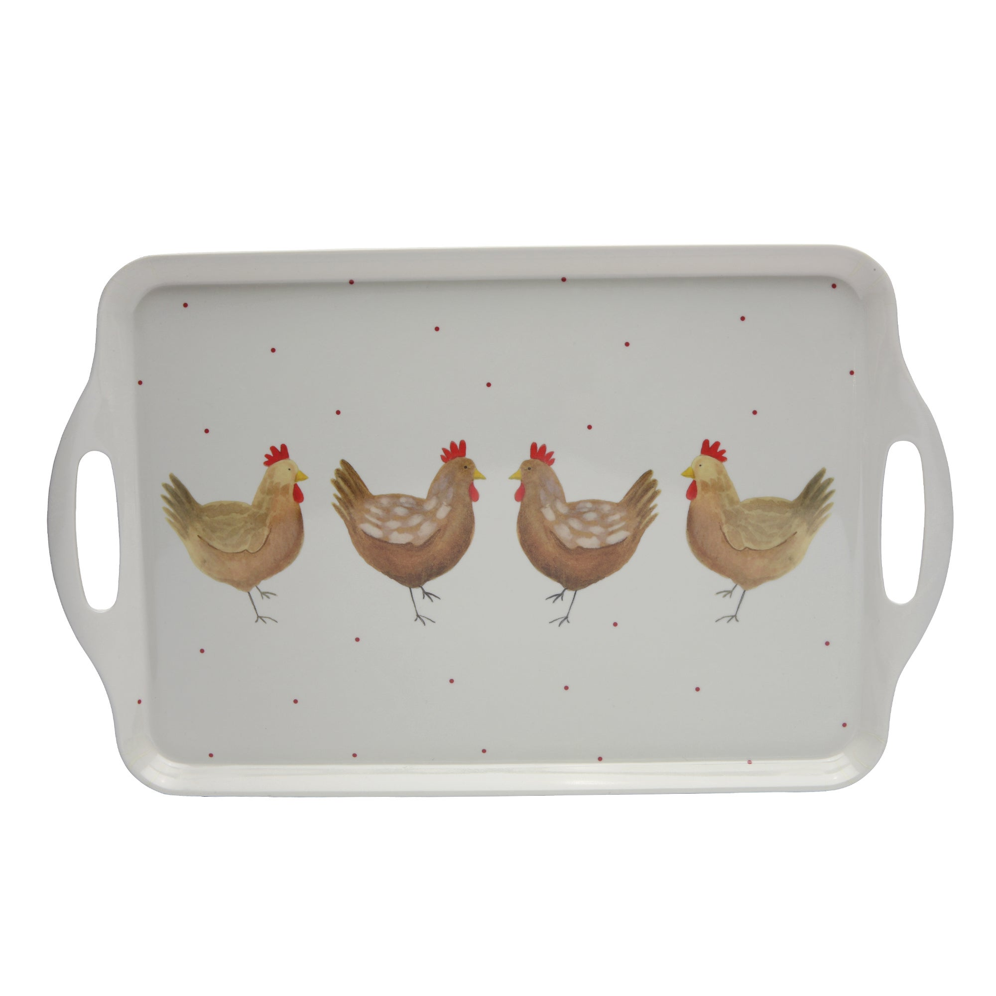 Henrietta Collection Melamine Handled Tea Tray