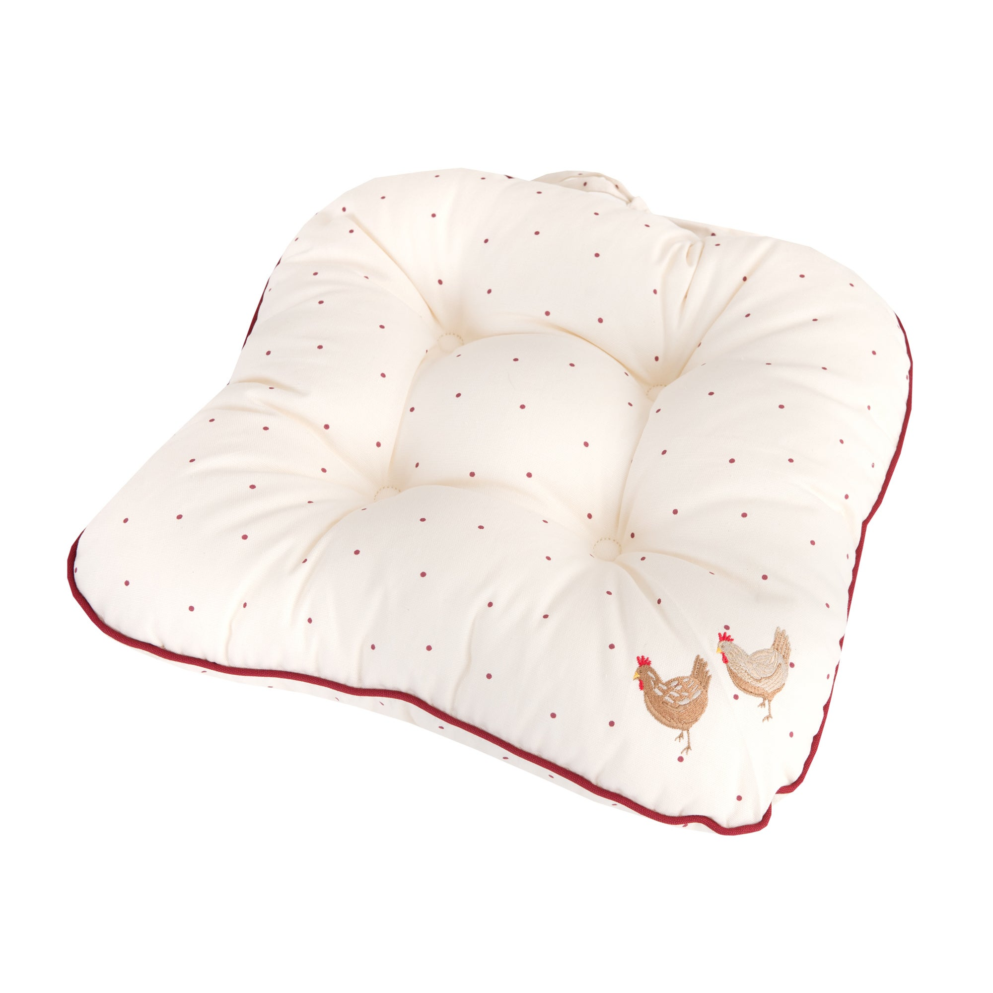 Cream Henrietta Collection Seat Pad