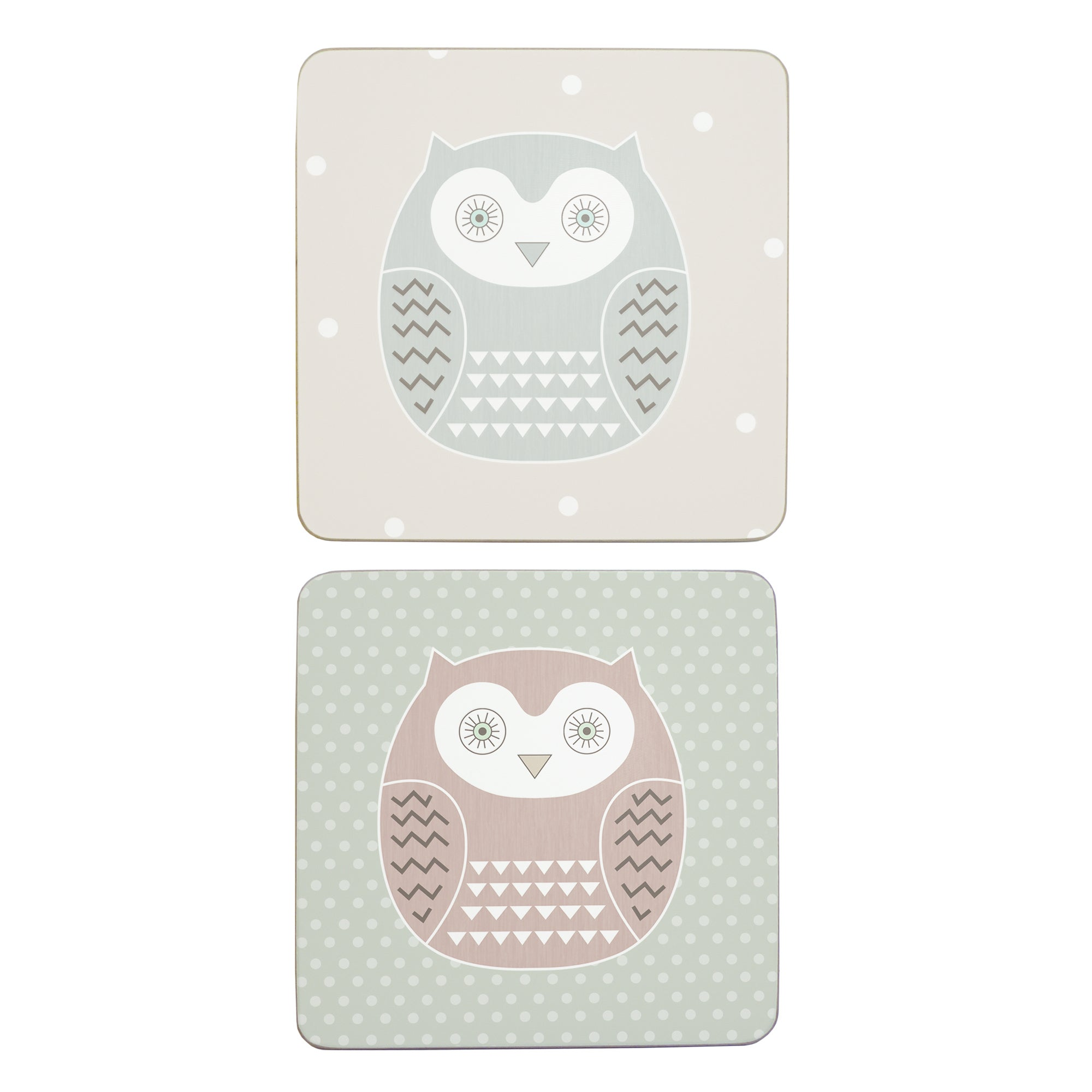 Owl Collection Set Of 6 Coasters