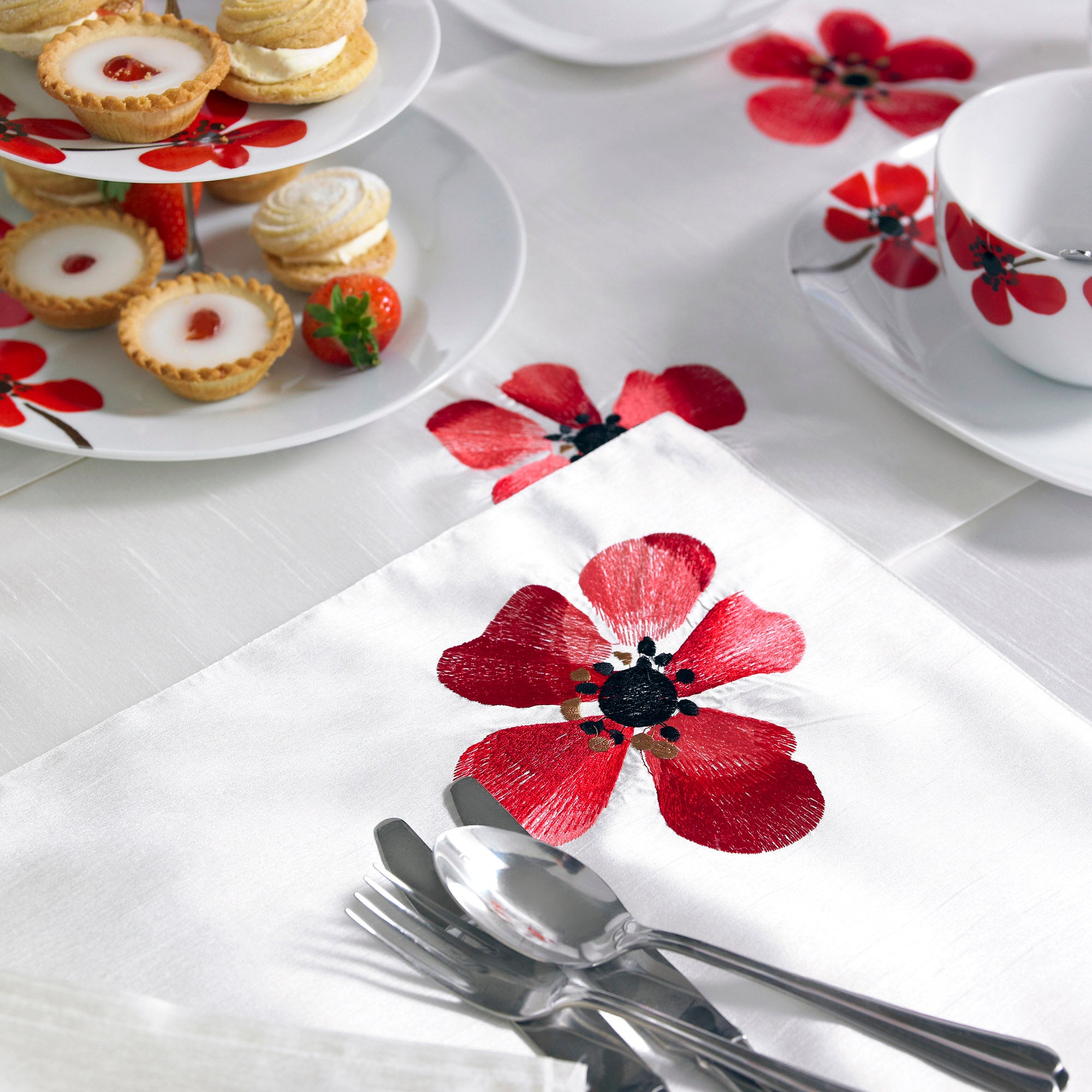 Red Painted Poppy Collection Placemat