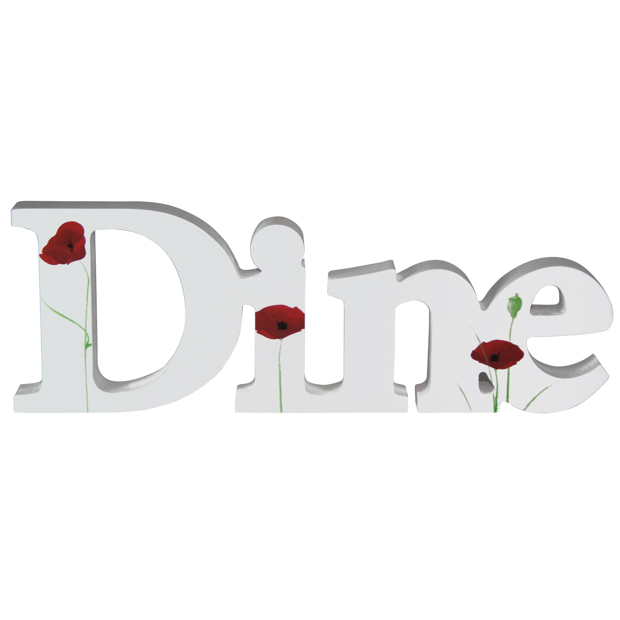 Poppy Collection Dine Decorative Word