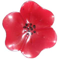 Red Poppy Collection Napkin Ring
