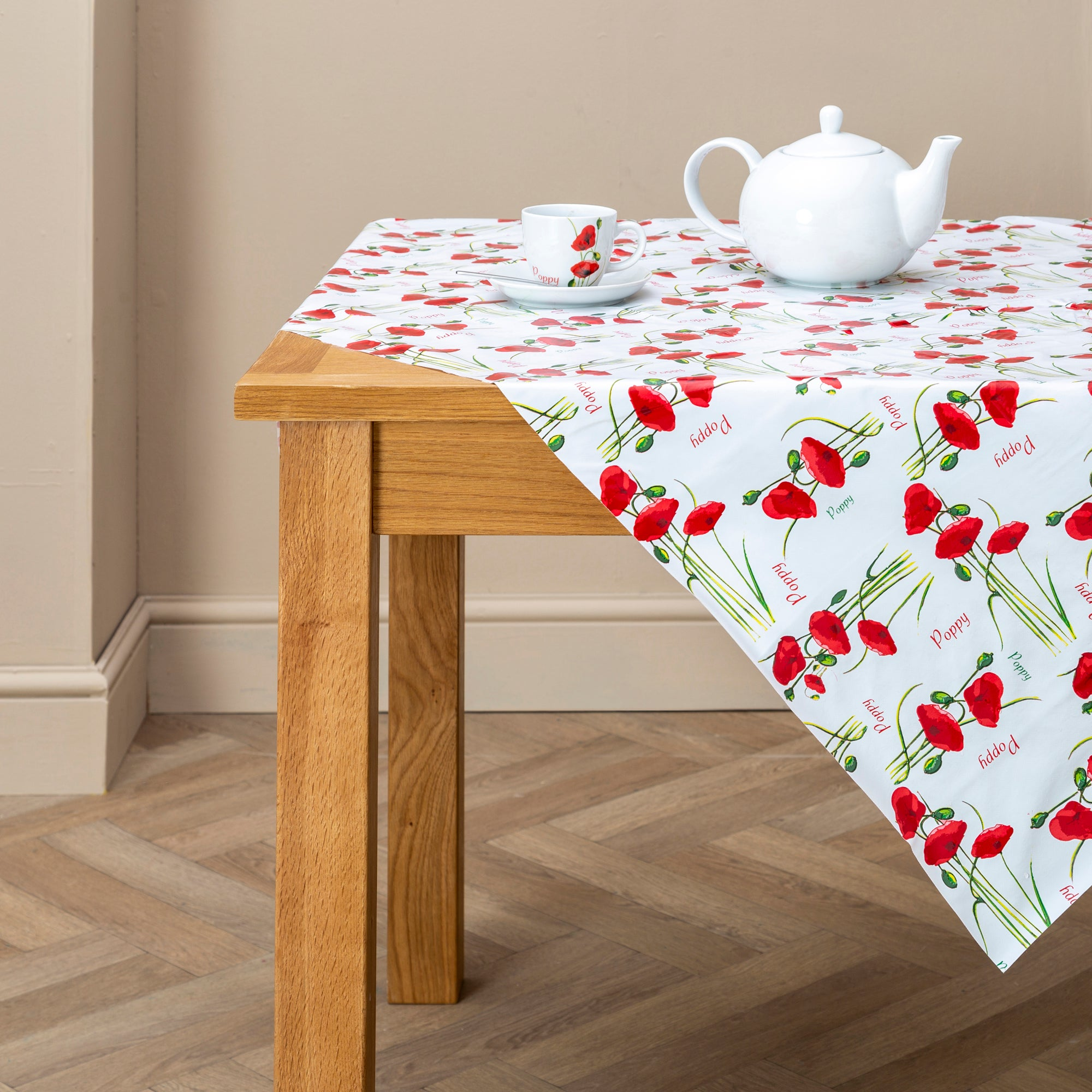 Red Poppy Collection Tablecloth