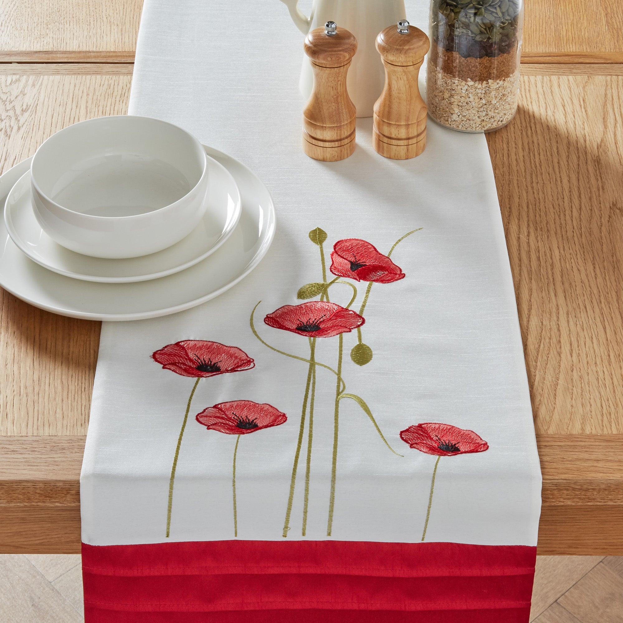 Red Poppy Collection Table Runner
