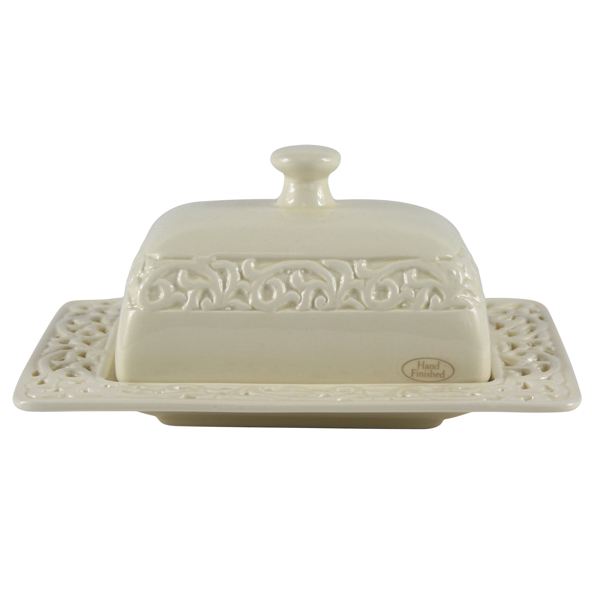 Cream Rochelle Collection Butter Dish