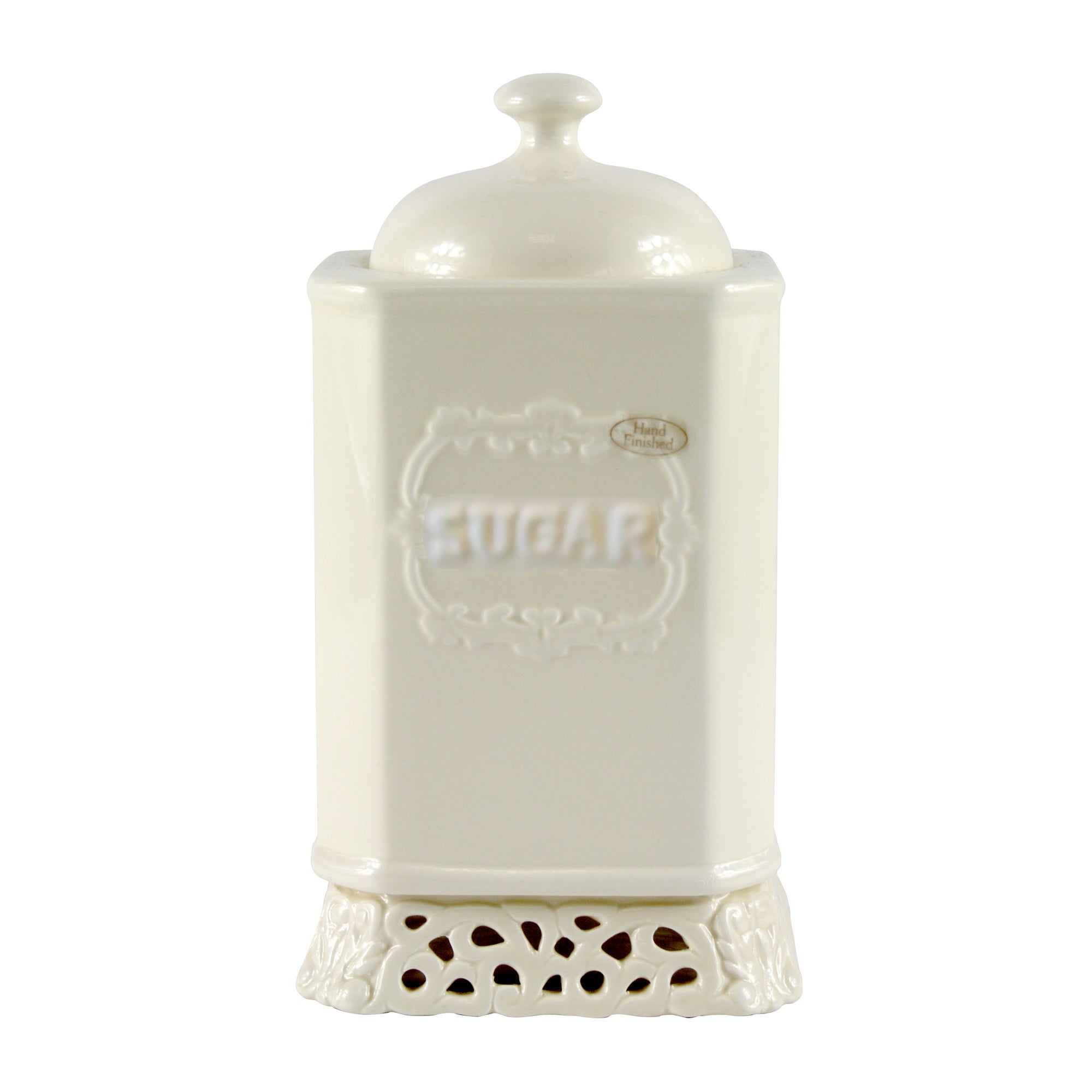 Cream Rochelle Collection Sugar Storage Jar