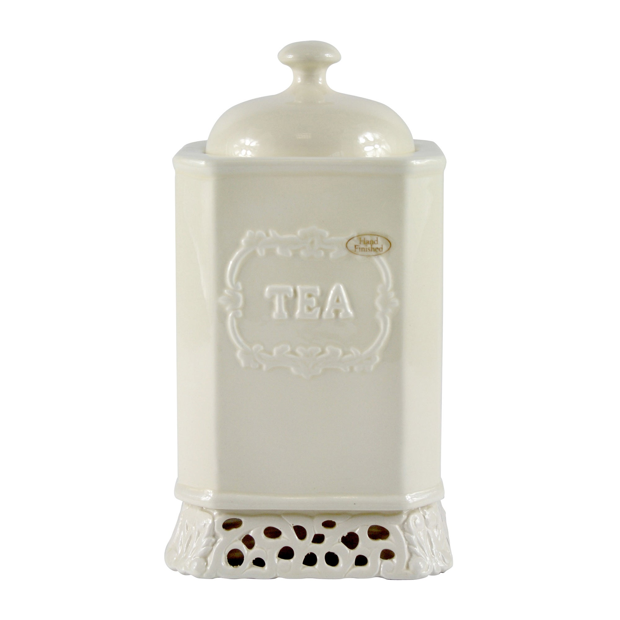 Cream Rochelle Collection Tea Storage Jar