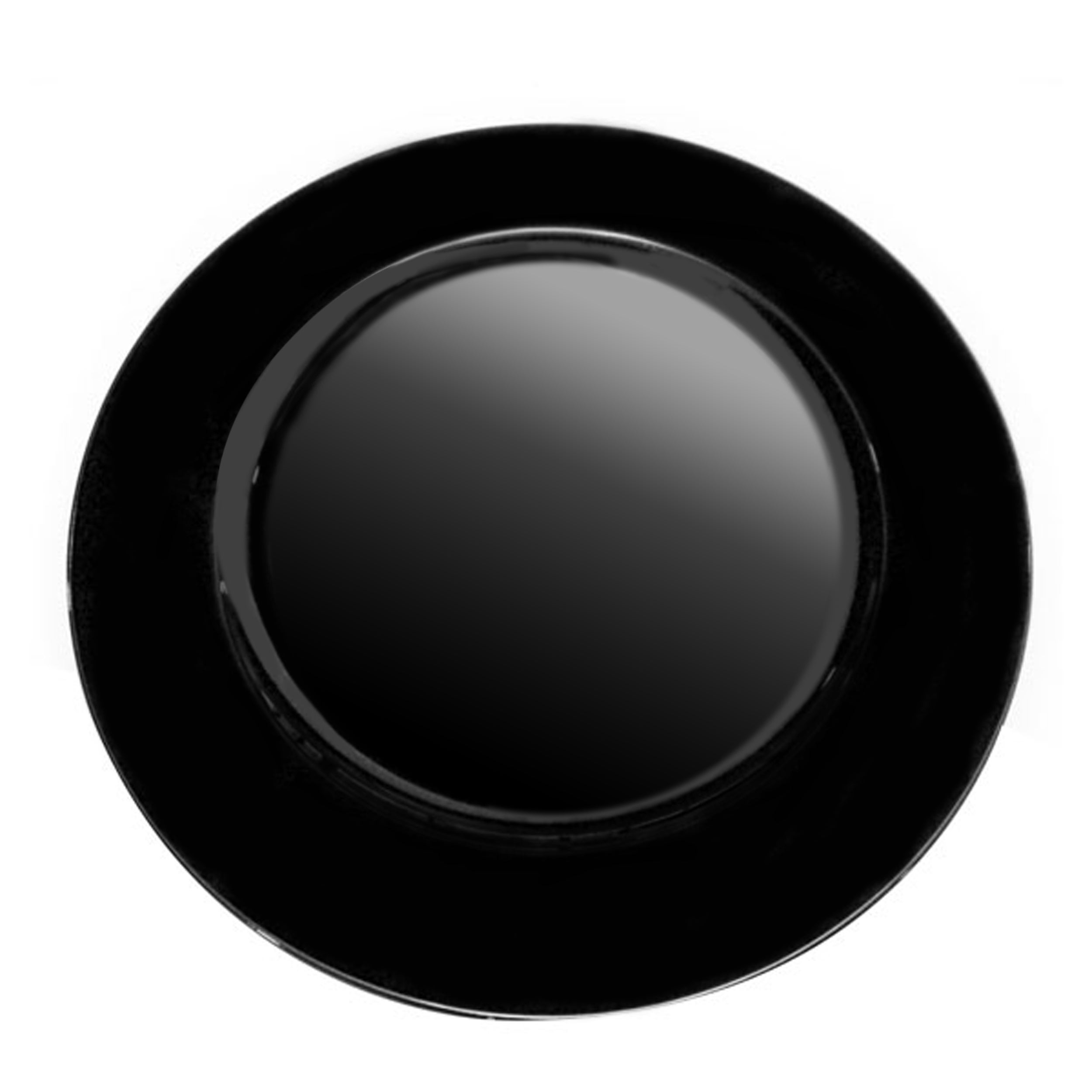 Black Spectrum Collection Charger Plate
