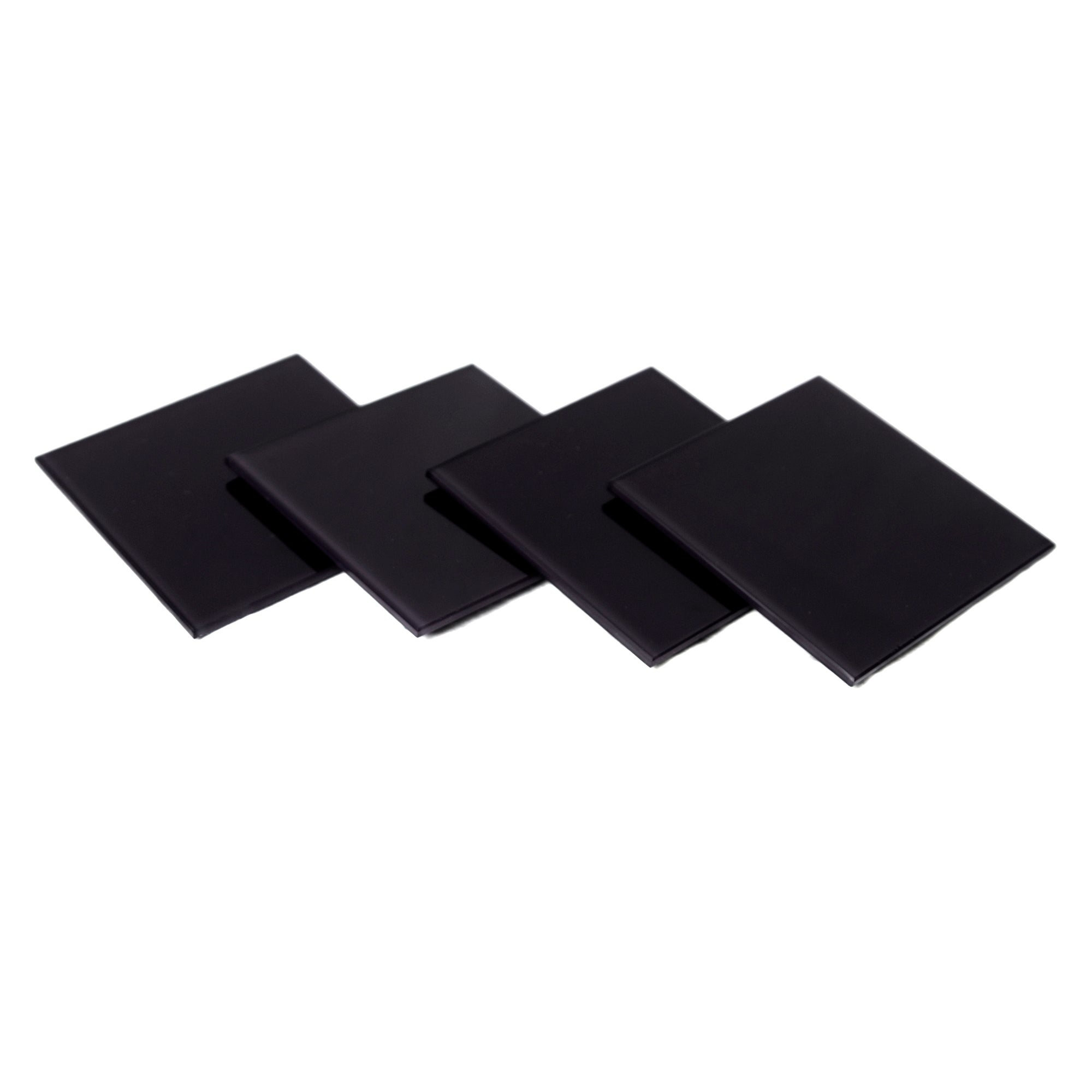 Black Spectrum Collection Set Of 4 Glass Coasters