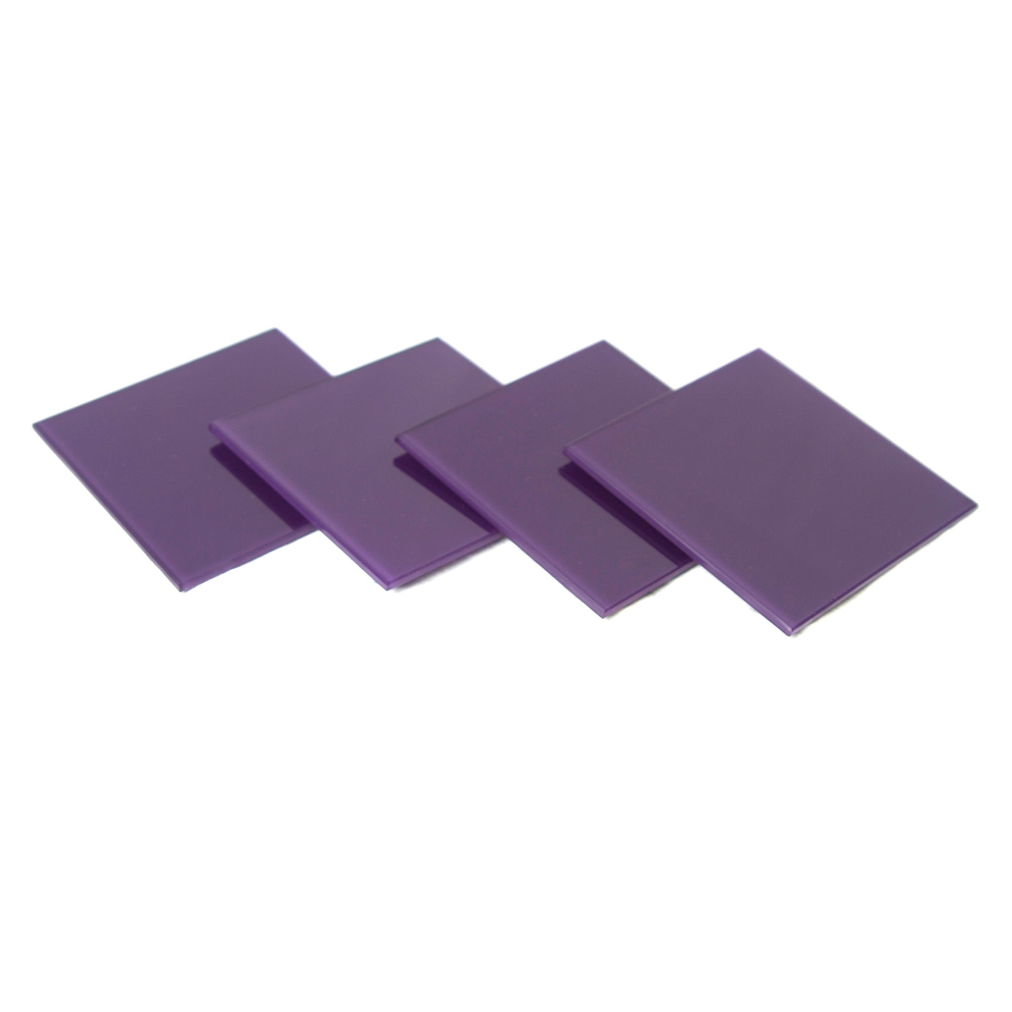 Purple Spectrum Collection Set of 4 Glass Coasters