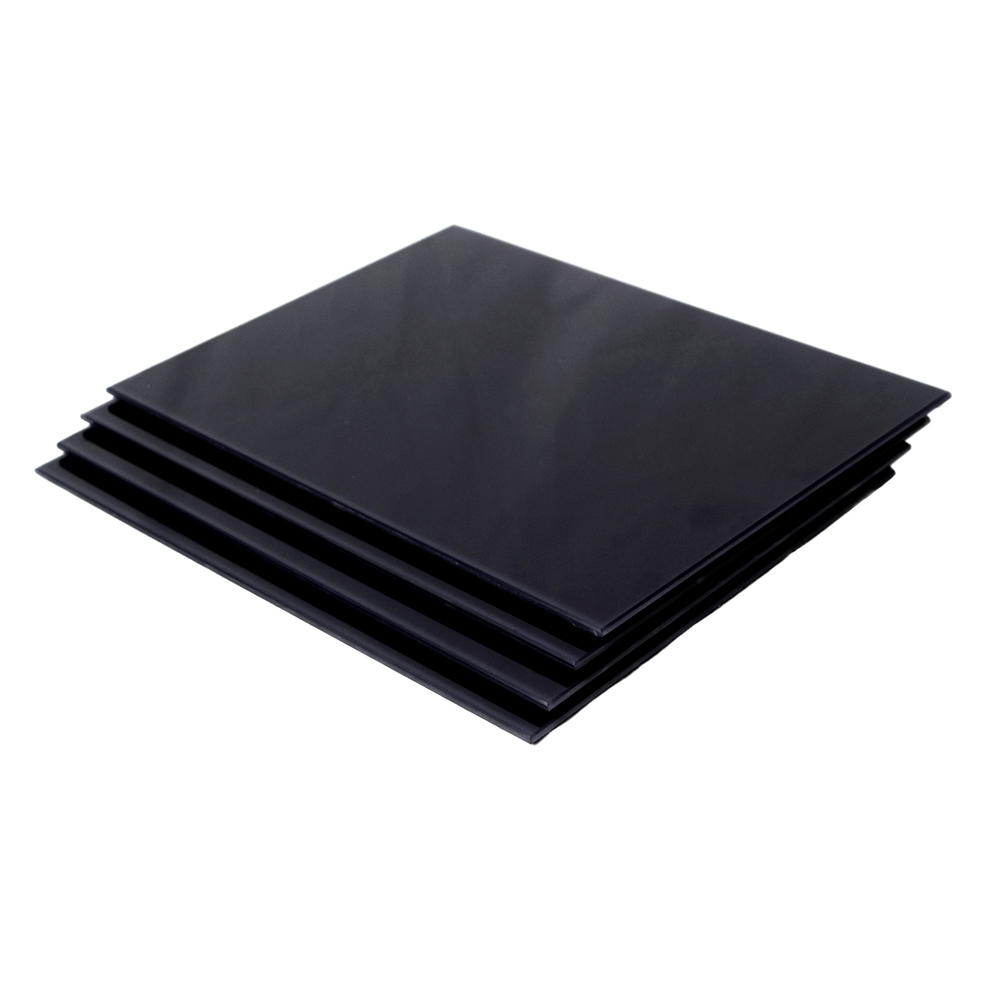 Black Spectrum Collection Set of 4 Glass Placemats