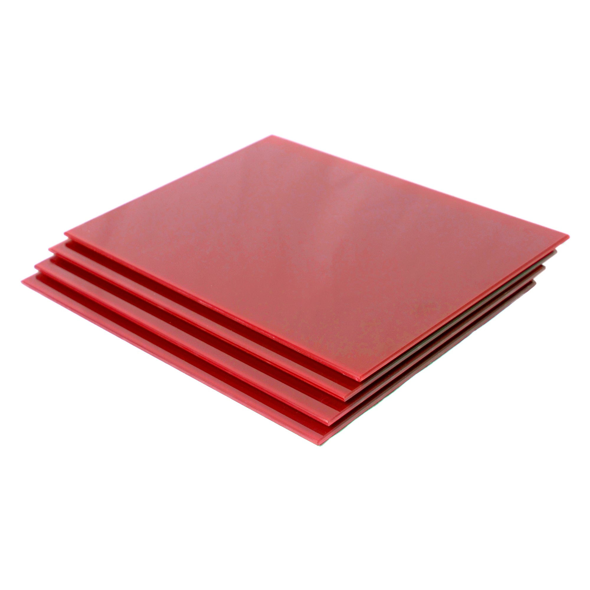 Red Spectrum Collection Set of 4 Glass Placemats