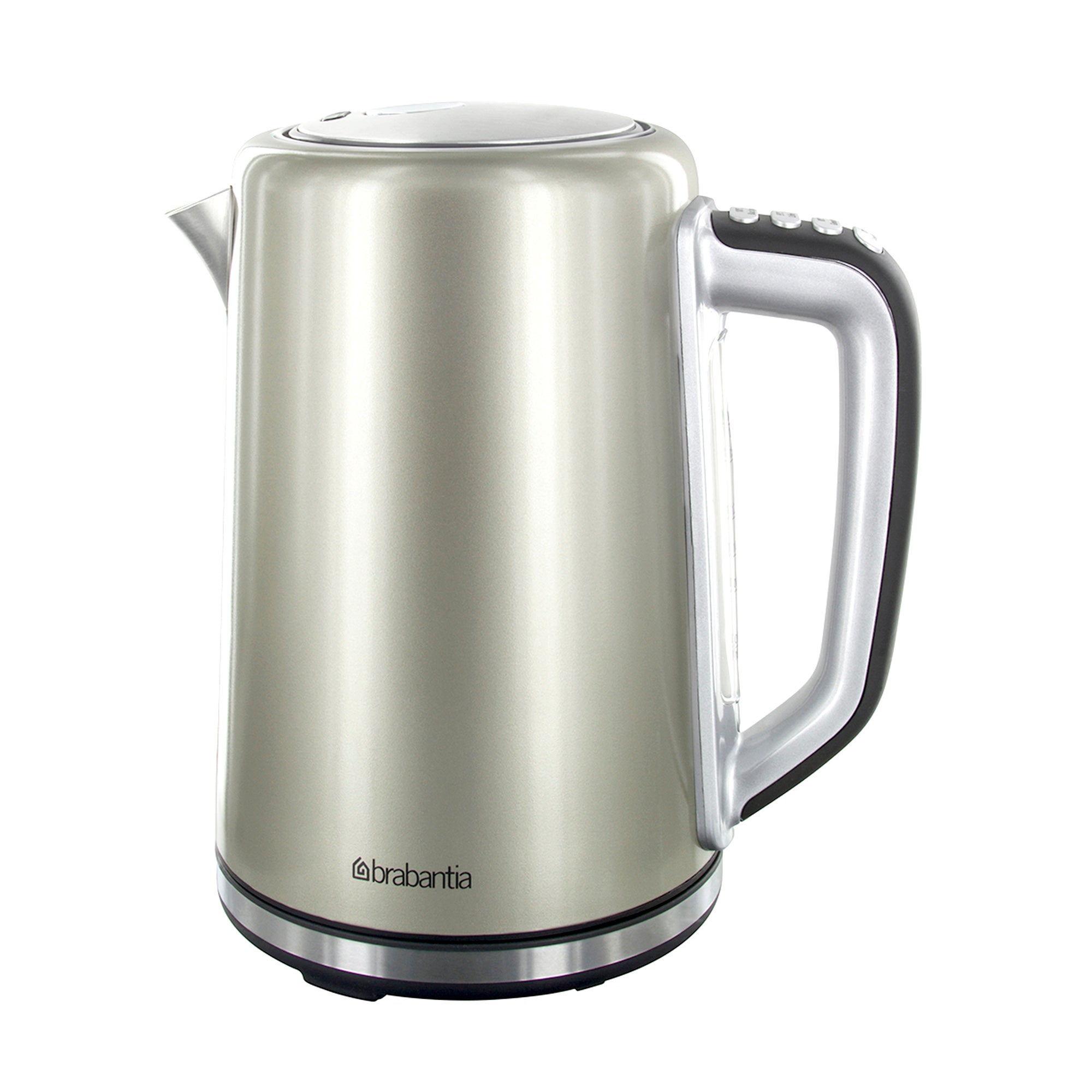 Brabantia Champagne Stainless Steel Soft Grip Digital Kettle