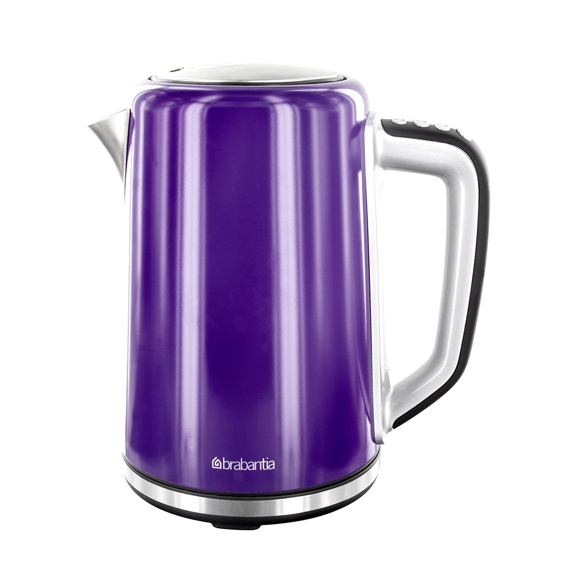 Brabantia Purple Stainless Steel Soft Grip Digital Kettle