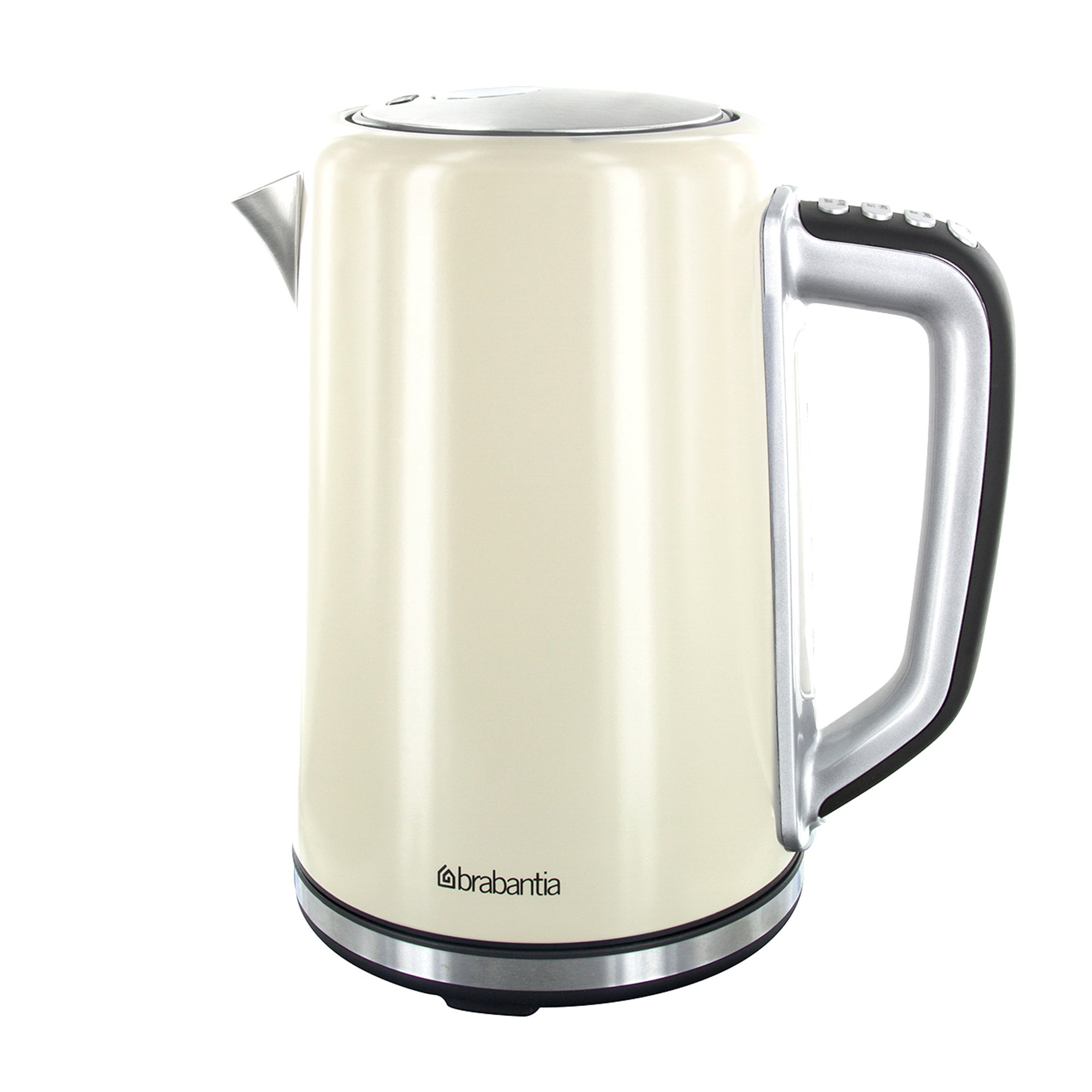 Brabantia Cream Stainless Steel Soft Grip Digital Kettle