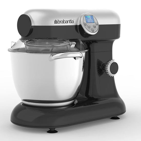 Brabantia 5.5L Stainless Steel Silver Digital Food Mixer with Heat Function