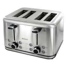 Brabantia Brushed Stainless Steel 4 Slice Toaster