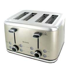 Brabantia Stainless Steel Champagne 4 Slice Toaster