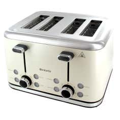 Brabantia Cream Stainless Steel 4 Slice Toaster