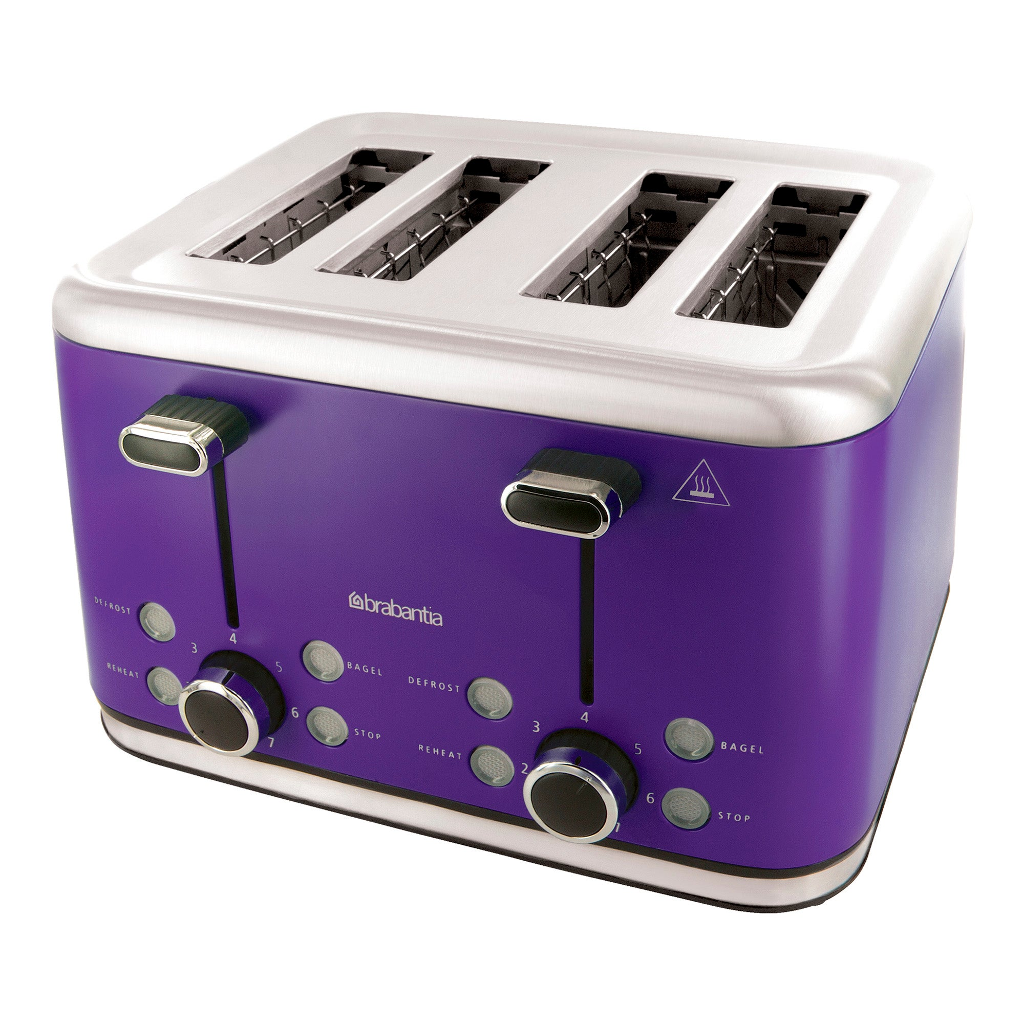 Brabantia Purple Stainless Steel 4 Slice Toaster