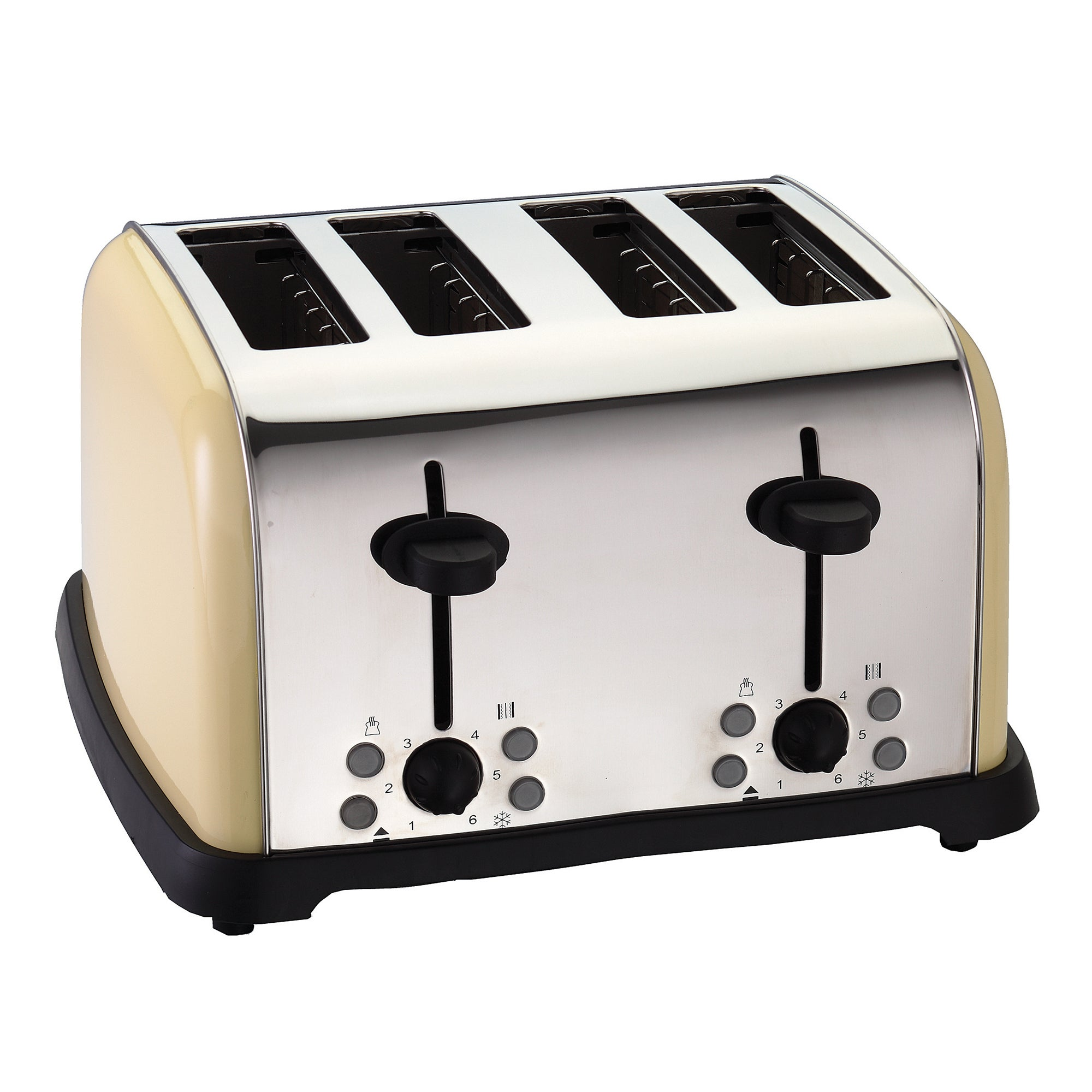 Cream Spectrum Collection 4 Slice Toaster