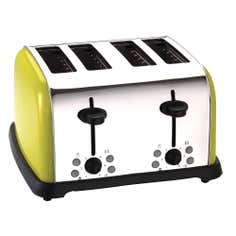 Lime Spectrum 4 Slice Toaster